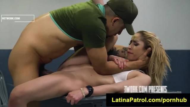 LatinaPatrol Goldie Glock Tiny Latina gets Slapped and Bound Hard