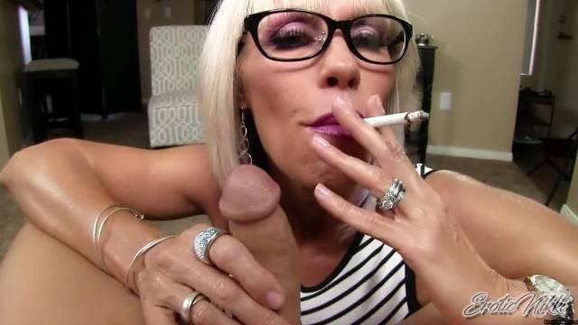 Erotic Nikki Aunt gives Slow Teasing POV Blowjob to Nephew for Graduation