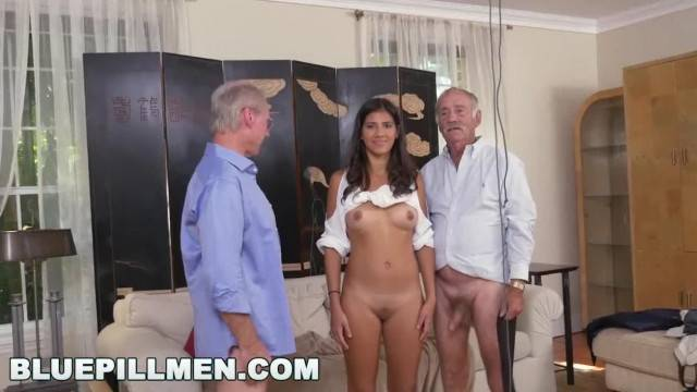 BLUE PILL MEN old Men go South of the Border with Latina Victoria Valenci