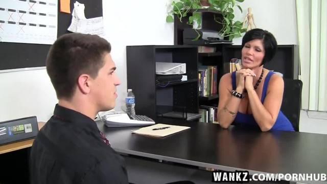 WANKZ Busty MILF Boss Fucked over her own Desk