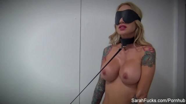 POV BJ with Blindfolded MILF Sarah Jessie
