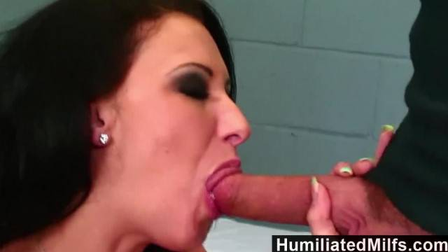 HumiliatedMilfs Mature Big Tits in a Jail Cell gets Slammed by Hard Cock