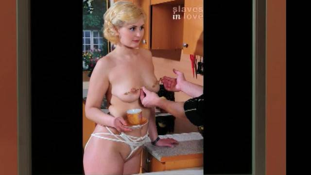 Blonde submissive trained in amateur BDSM