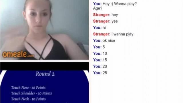Teen amateur cutie strips in random chat