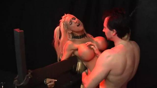 Huge titty dollslut Amy Anderssen gets trapped and fucked hard