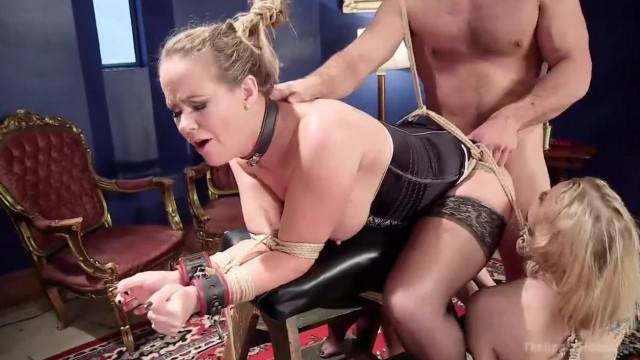 Blonde babes Disciplined by Daddy