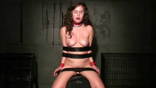 Strapped Sybian Ride with gorgeous babe