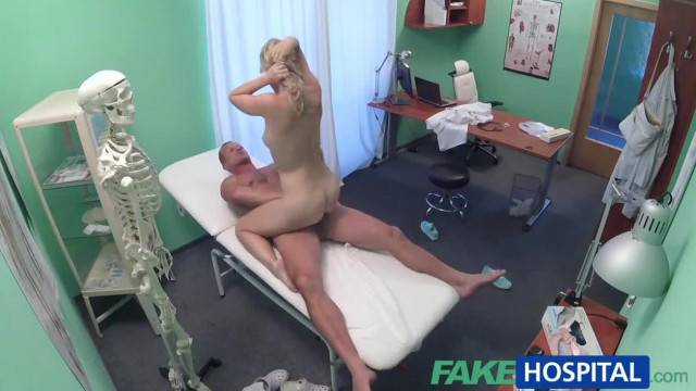 FakeHospital Cute Blonde Patient gets Pussy Exam then Fucked Hard by Doctor