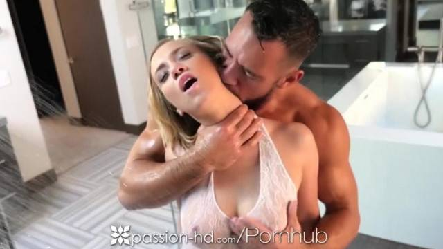PASSION HD Shower Fuck and Creampie with Blonde Big Booty Bailey Brooke