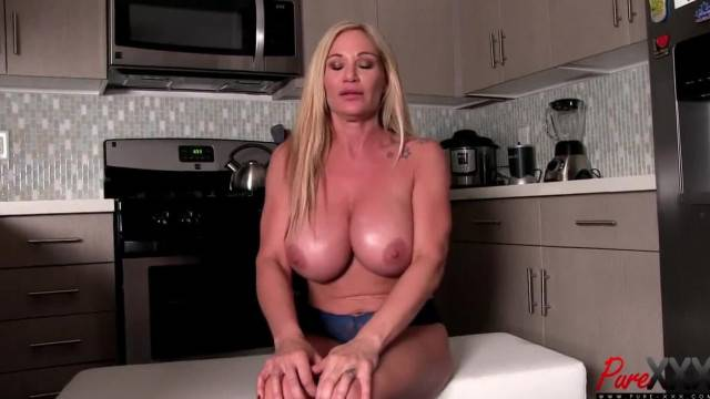 Topless interview with big titty blonde babe Tyler Faith