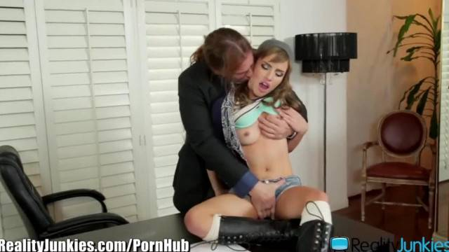 Teen Rides her Boss Big Cock at Office
