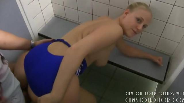 Blonde Amateur on the Swimming Team Enjoyed POV