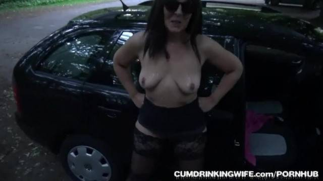 Slutwife Marion Gangbanged at a Huge Rest Area