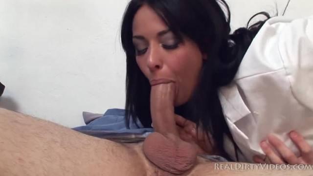 Slutty nurse Anissa Kate wakes patient up with hardcore fuck