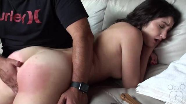 Cute brunette Spanked until her ass turns red