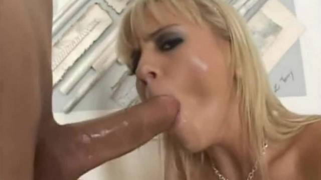 Blonde babe Bree Olson rides a hard dick