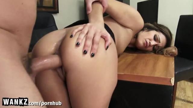 WANKZ Horny Secretary Caught Masturbating at Work