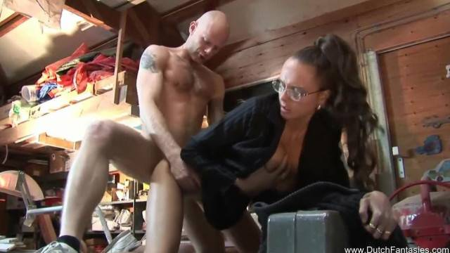 Dutch MILF with Glasses has Great Sex