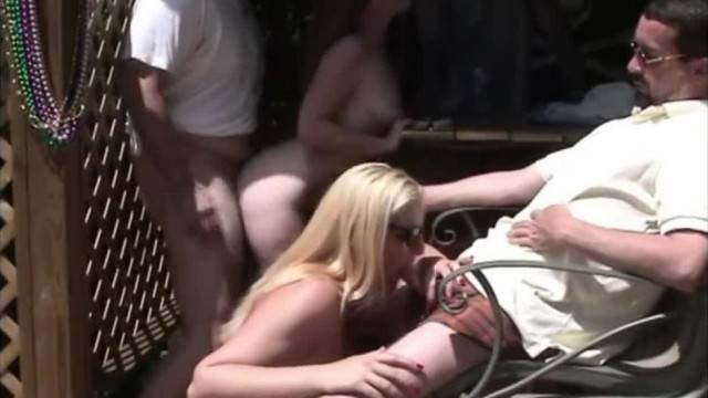 Outdoor group fuck with wild amateur babes