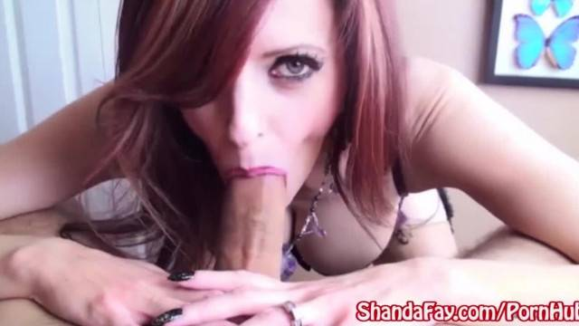 Shanda Fay gives him a Titty Fuck in Lingerie
