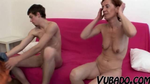 Boy Banging and Cumming Hard on Maid