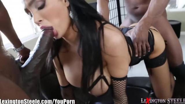 LexingtonSteele Amy Anderssen BBC Spit Roast