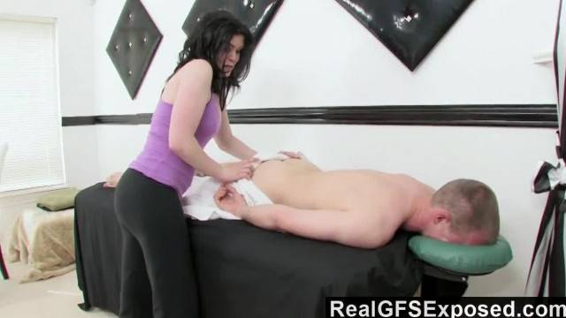 RealGfsExposed Massaging a Handsome Stud just gets her too Horny