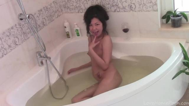 An Erotic Bath with a Glass of Wine