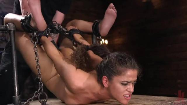 Gorgeous Victoria Voxxx suspended and punished hard