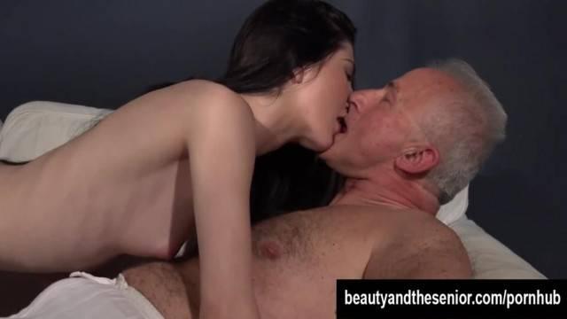 Tempting Teen Mia taking an old Dick