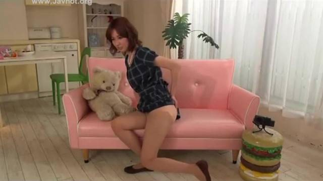 Japanese Girl Farting in front of the camera