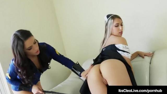 Pussy Police its Cleo Tongue Fucks Young Maid Kimber Lee