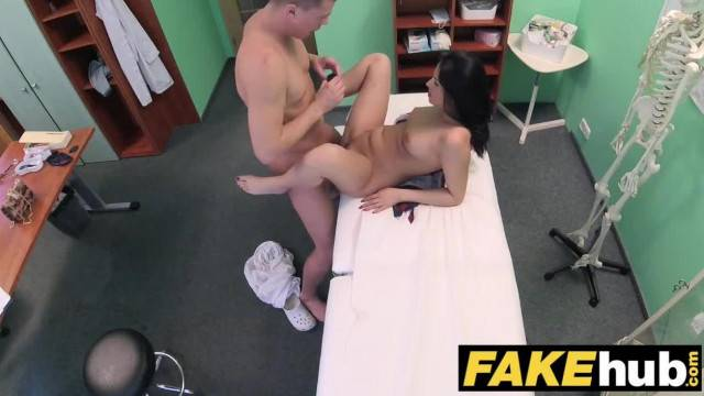 Shy Brunette has Explosive Orgasms when Fucking her Doctor