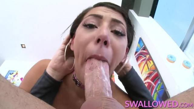 SWALLOWED Valentina Jewels Face Fucked by a Big Dick