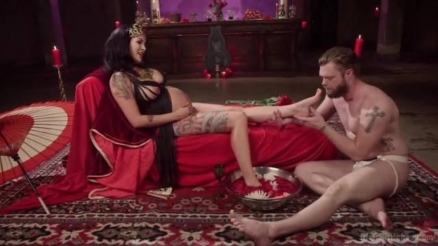 Divine Fertility Pregnant Woman Dominates Slave Boy