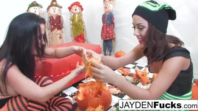 Jayden and Kristina Pumpkin Fun turns into hot fuck