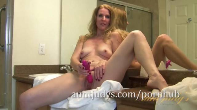 Horny MILF Lacy has a Pre shower Masturbation Session