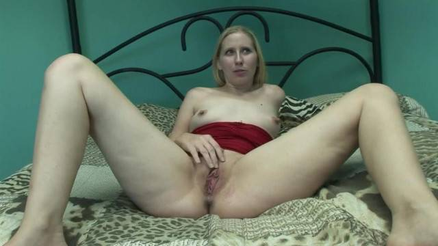 Blonde Amateur Babe Toys with Dildo at Porn Audition