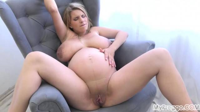 Sexy Mommy Teasing Pregnant Russita has a Surprise