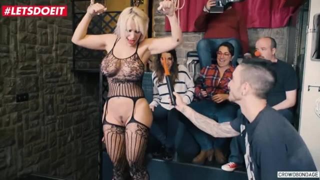 Obedient Latina Blondie Fesser in Rough BDSM Sex