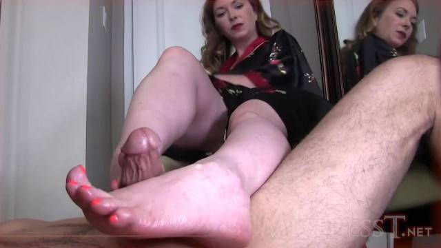 POV FootJob and teasing with Mistress T