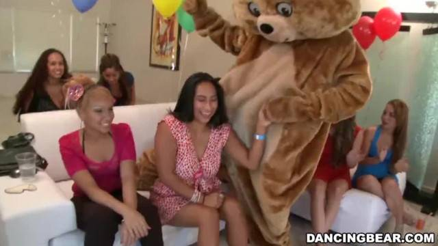 Wild Sluts Pin the Junk on the Hunk at DancingBear Party