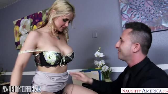 Big Tits Blonde Sarah Vandella gets Anal Sex in the Office
