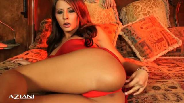 Spicy Madison Ivy strips and starts rubbing her clit