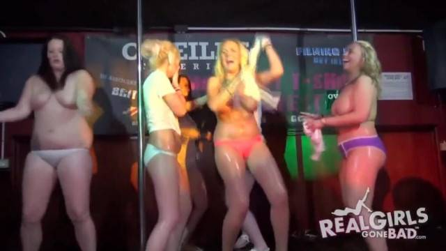 Chubby Real Teens at Amateur Striptease Contest