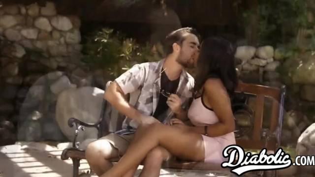Stunning Ebony Jenna Fox Doggystyled and Jizz Sprayed