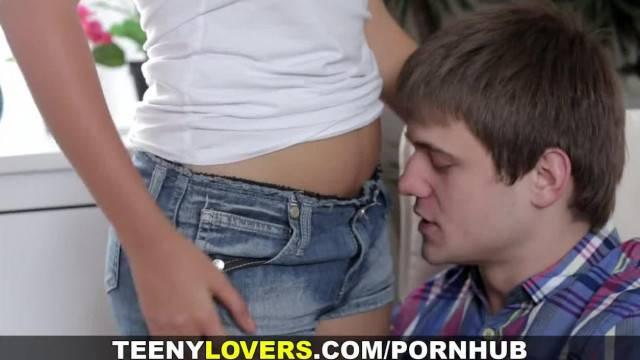 Teeny Lovers Busty Teen taking a Creampie