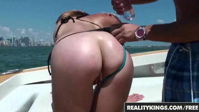 Reality Kings Fit Tan Blonde Sunset Diamond Loves Anal and the Outdoors