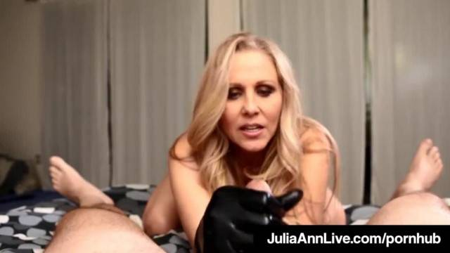 MILF of the Year Julia Ann Dons Black Gloves to Milk A Cock