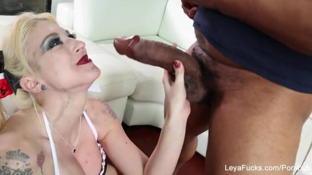 Blonde Hottie Leya Falcon gets a Hardcore Interracial Assfuck